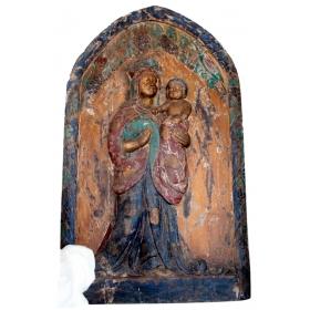 Retablo religioso en madera