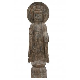 Escultura de piedra oriental grande
