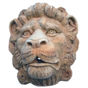 Mascaron de león de piedra recompuesta