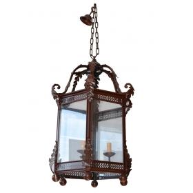 LAMPARA DE TECHO EN HIERRO