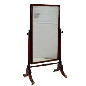 Espejo basculante inglés de caoba estilo regency