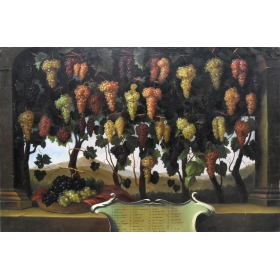 Cuadro de racimos de uvas