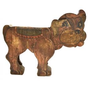 Animal de carrusel de época realizado en madera