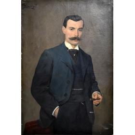 Retrato de señor de la época