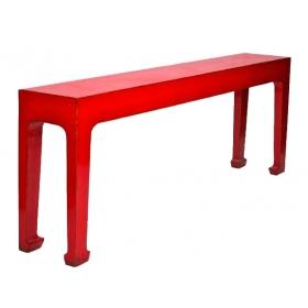 Consola china lacada en rojo