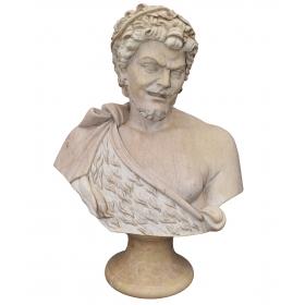 Busto en mármol de fauno