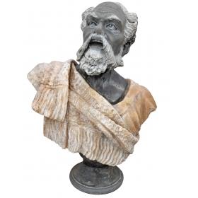 Busto en mármol del filósofo Socrates
