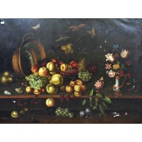Cuadro con bodegón de frutas