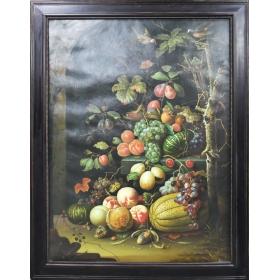 Cuadro de bodegón de frutas