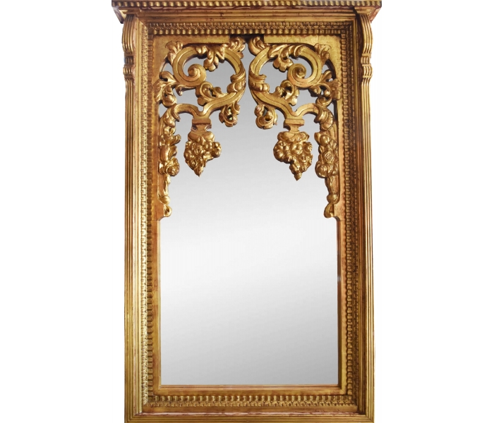 Moderno Gran Espejo Con Marco Dorado Componente - Ideas ...
