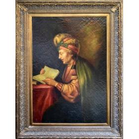 Retrato de señor leyendo un libro