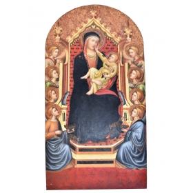 Icono pintado sobre tabla de 120cm de alto y 60cm de largo
