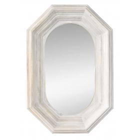 Espejo con marco de madera blanco