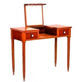 Mesa tocador de madera chapada, años 50