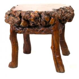Gran mesa china de centro de madera de raíz