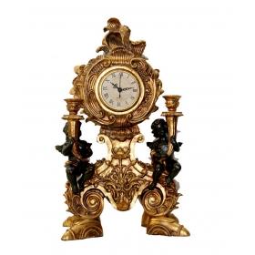 Reloj reproduccion dorado de resina