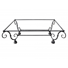 Pie de mesa realizado en hierro