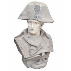 Busto de Napoleón Bonaparte realizado en mármol y piedra