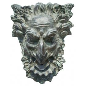 Mascaron de bronce