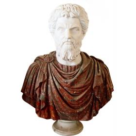 Busto de Marco Aurelio, emperador y filosofo estoico