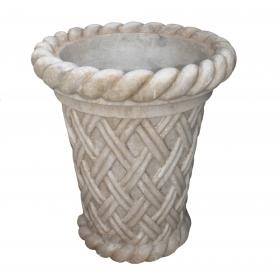 Copa de mármol con forma de red tallada mano