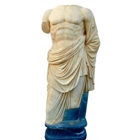 Escultura de mármol hecha a mano de torso romano