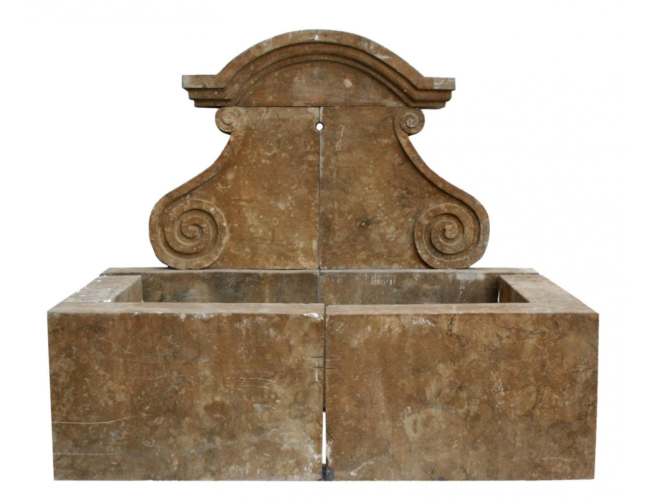 Fuente de pared de piedra envejecida estilo antiguo - Fuentes de pared de piedra ...