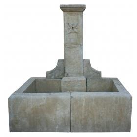 Fuente de pared en mármol