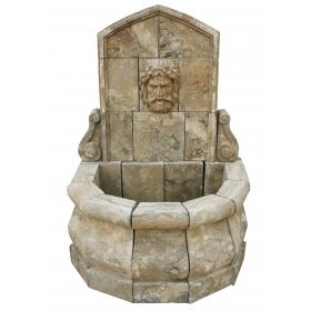Fuente de mármol envejecido mediana para pared