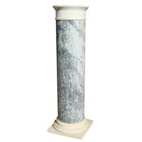 Peana clásica en mármol blanco y gris macael