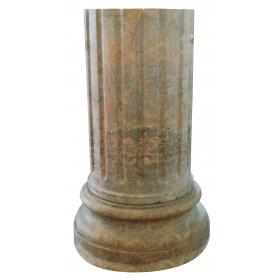 Peana de mármol marron clásica