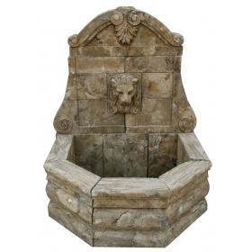 Fuente mediana de mármol envejecido para pared