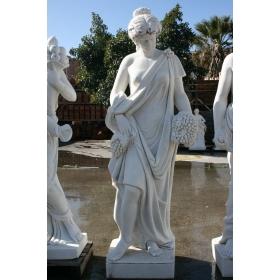 Escultura de mujer de mármol tallada a mano