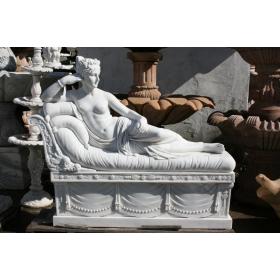 Escultura de josefina de canova realizada en mármol natural