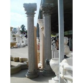 Pareja de columnas de granito gris