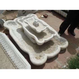 Fuente de suelo de mármol