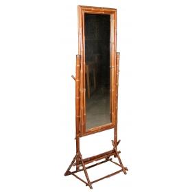 Espejo de pie de bambu de los años 90