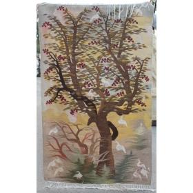 Tapiz de árbol y aves