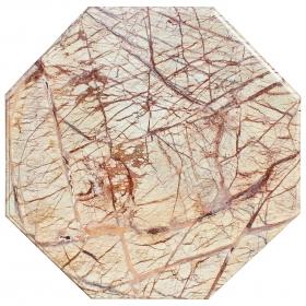 Tablero de mesa octogonal realizado en mármol