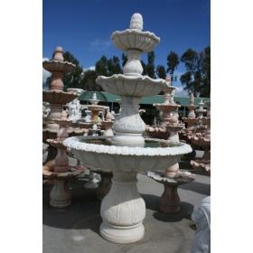 Fuente de mármol blanca clásica de tres platos