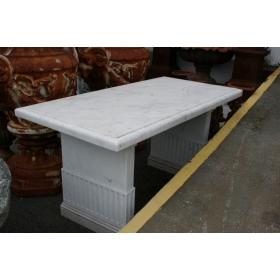 Mesa de mármol blanca