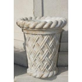 Copa de marmol con forma de red tallada mano