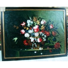 Oleo pintado a mano sobre lienzo con marco c1003