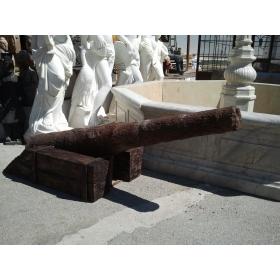 Cañon de un barco hundido del s.xviii