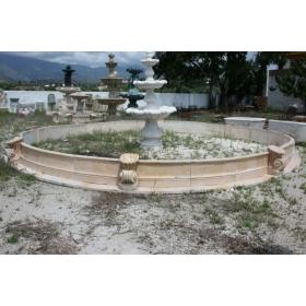 Cerco de marmol limenstone con macetones