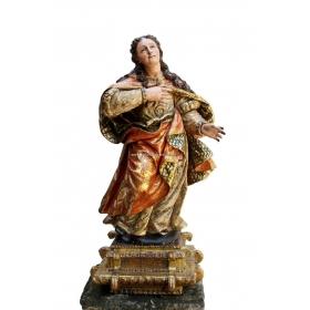 Escultura policromada de gran calidad del s xvii, de la zona castellana.