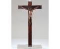 Cristo en la cruz de madera tallada y policromada, s.xvii.