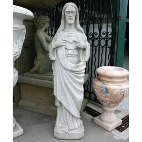 ESCULTURA RELIGIOSA DEL SAGRADO CORAZÓN DE JESÚS REALIZADA EN GRANITO