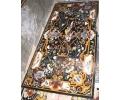 Tablero de mesa rectangular para diez comensales, con incrustaciones de piedras duras