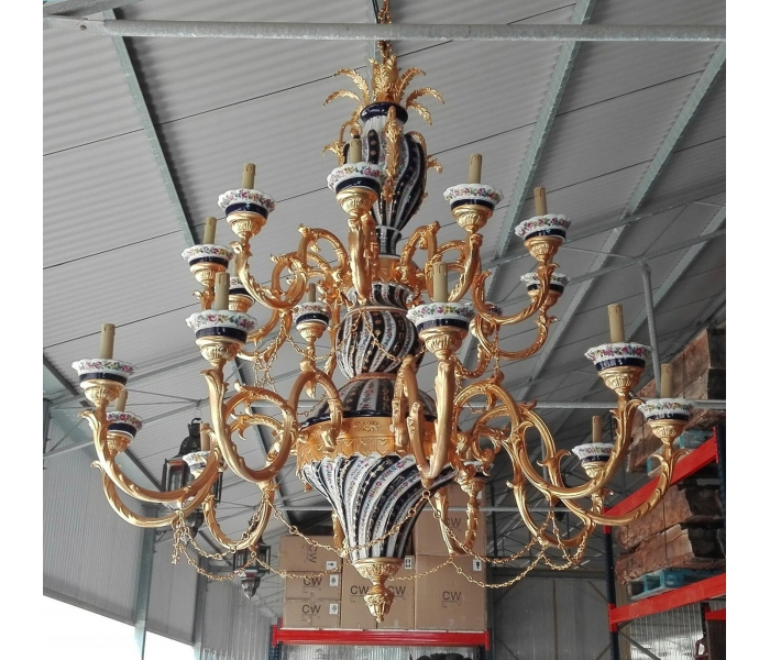 GRAN LAMPARA DE PORCELANA